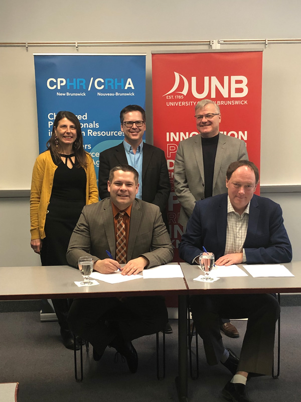 UNB signs accreditation with CPHR