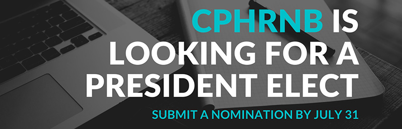 CPHRNB is looking for a president-elect.